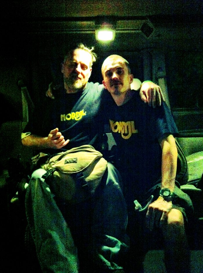 Stephen Keenan & Shaun McAlister in March of 2012