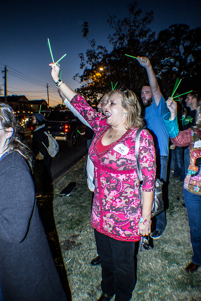 DFW NORML's Glow Stick Vigil for Cash Hyde