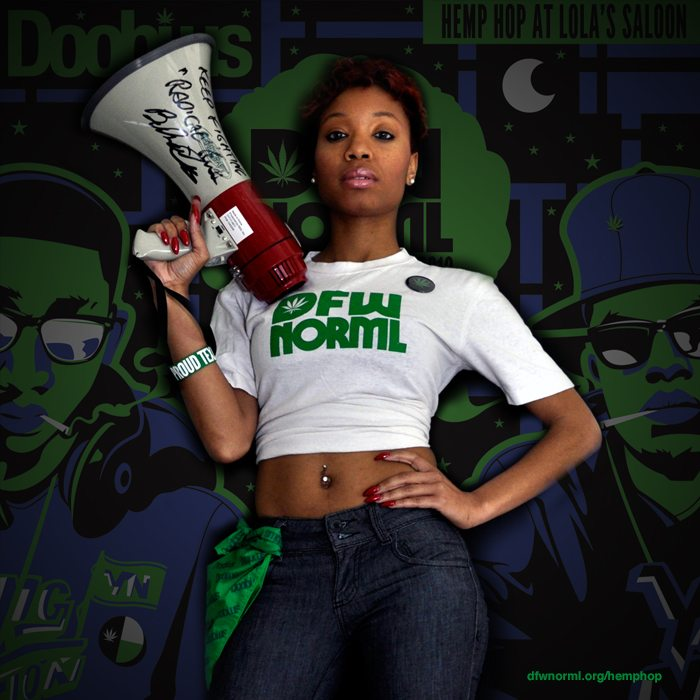 DFW NORML's Hemp Hop Model Davina Cavitt (@yellabunni)