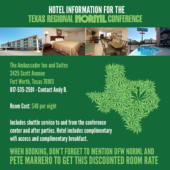 Hotel Information for the Texas Regional NORML Conference