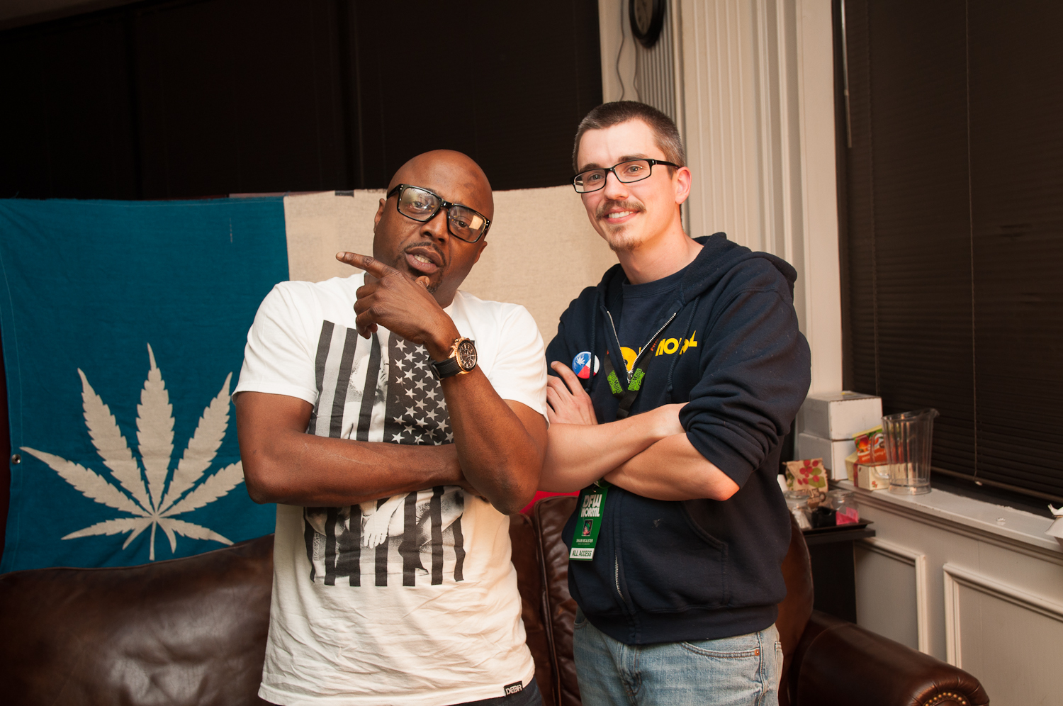 Donnell Rawlings with DFW NORML's Executive Director Shaun McAlister