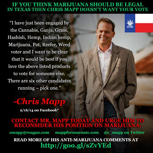 Republican US Senate Candidate Spars with Voters on Marijuana Policy