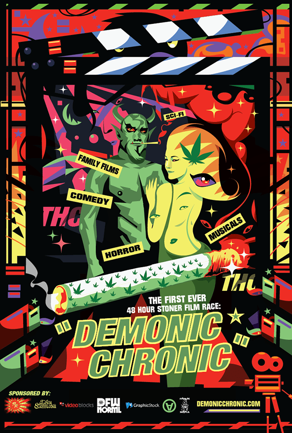The Demonic Chronic 48 Hour Film Race Official Poster