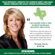 Texas Democratic candidate for Governor Wendy Davis BACKS