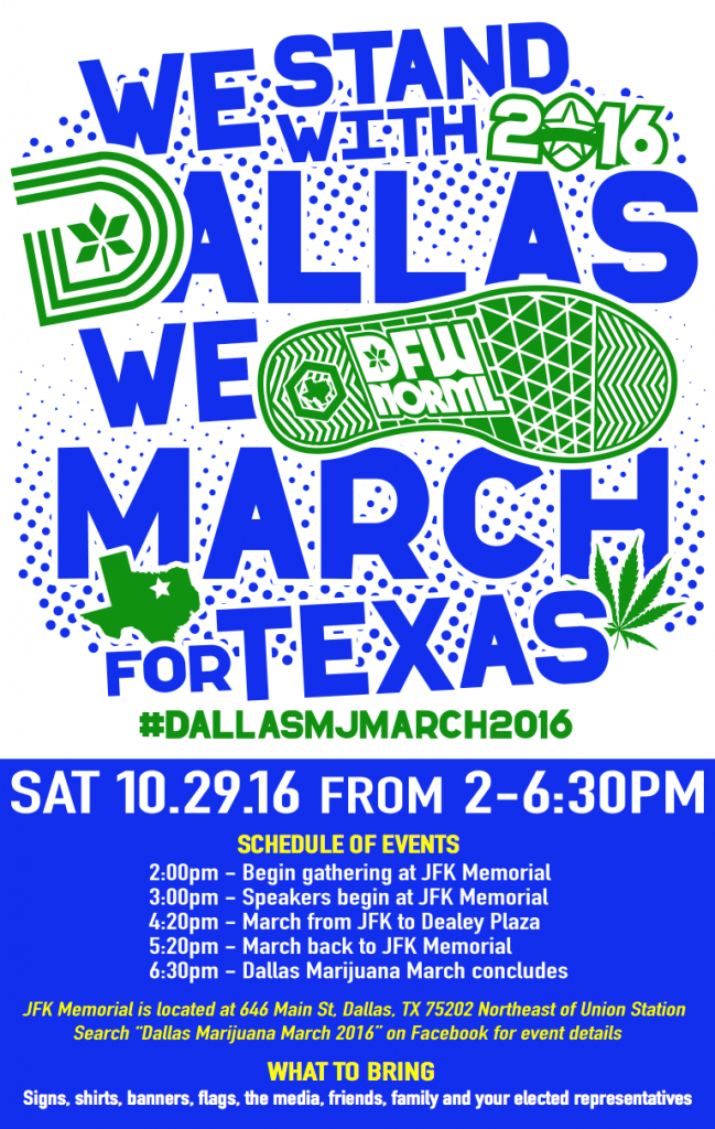 Dallas Marijuana March 2016 Schedule